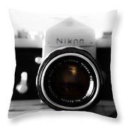Vintage Camera C20m Throw Pillow