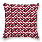 Vintage Camera Chevron Throw Pillow
