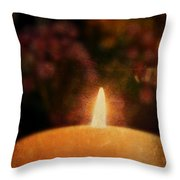 Vintage Candle Throw Pillow