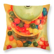 Vintage Candy Machine Throw Pillow