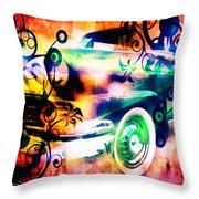 Vintage Car 1 Neons Edition Throw Pillow