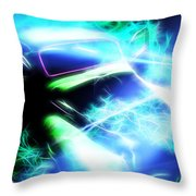 Vintage Car 20 Neons Edition  Throw Pillow