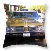 Vintage Car. Front View Throw Pillow