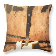 Vintage Cheese Crumble Throw Pillow