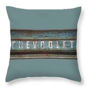 Vintage Chevrolet Tailgate Throw Pillow