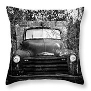 Vintage Chevy Farm Truck Throw Pillow