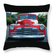 Vintage Chevy Pickup Truck Throw Pillow