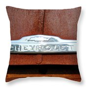 Vintage Chevy Truck Emblem Throw Pillow