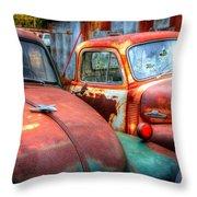 Vintage Chevy Trucks Throw Pillow