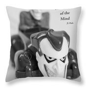 Vintage Child's Toy With Text Throw Pillow