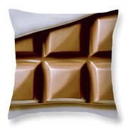 Vintage Chocolate Block Macro Throw Pillow