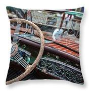 Vintage Chris Craft Throw Pillow