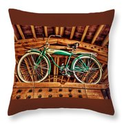 Vintage Cicycle Throw Pillow