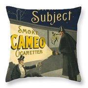 Vintage Cigarette Ad 1900 Throw Pillow