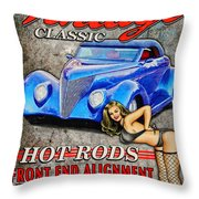 Vintage Classic Sign Throw Pillow