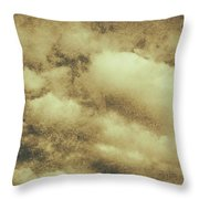 Vintage Cloudy Sky. Old Day Background Throw Pillow