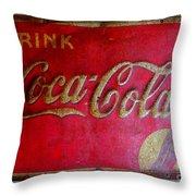 Vintage Coca-cola Sign Throw Pillow
