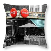 Vintage Coca Cola Signs Throw Pillow