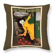 Vintage Coffee Advert - Circa 1920's Throw Pillow