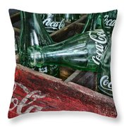 Vintage Coke Square Format Throw Pillow