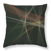 Vintage Computer Graphic Line Pattern Throw Pillow