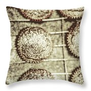 Vintage Cooking Background Throw Pillow