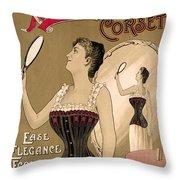 Vintage Corset Ad 1890 Throw Pillow
