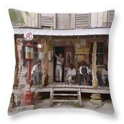 Vintage Country Store Usa - Circa 1939 Throw Pillow