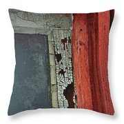 Vintage Crackle Throw Pillow