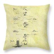 Vintage Croquet Patent Throw Pillow