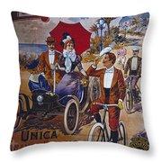 Vintage Cycle Poster Prinetti Stucchi Unica Grande Fabbrica Italiana Milano Throw Pillow
