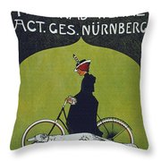 Vintage Cycle Poster Victoria Fahrrad Werke Act Ges Nurnberg Throw Pillow