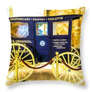 Vintage Delivery Wagon Throw Pillow