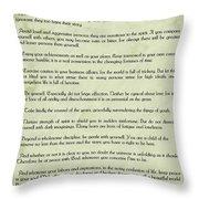 Vintage Desiderata Throw Pillow