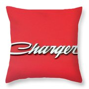 Vintage Dodge Charger Logo Throw Pillow