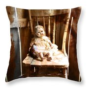 Vintage Doll Throw Pillow
