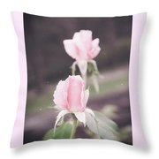 Vintage Double Rose Bud Throw Pillow