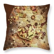 Vintage Dressmakers Table Throw Pillow