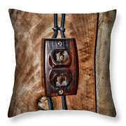 Vintage Electrical Outlet Throw Pillow