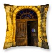Vintage Entrance Throw Pillow