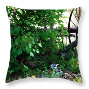 Vintage Farm Rake Throw Pillow