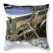 Vintage Farm Wagon Throw Pillow