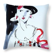 Vintage Fashion  Throw Pillow