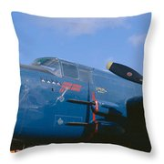 Vintage Fighter Aircraft, Burnet, Texas Throw Pillow