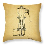 Vintage Fire Hydrant Throw Pillow