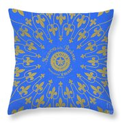 Vintage Fleur De Lis Pattern Design Throw Pillow