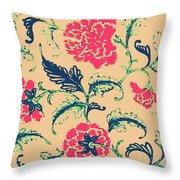 Vintage Flower Design Throw Pillow