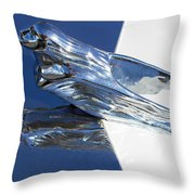 Vintage Flying Lady Hood Ornament Throw Pillow