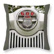 Vintage Ford 600 Nameplate Emblem Throw Pillow
