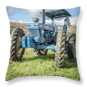 Vintage Ford 7610 Farm Tractor Throw Pillow